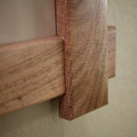 The lap joints are more time consuming than miters, but in this case they help add to the rustic look