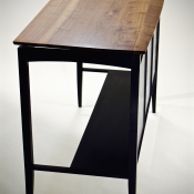 Standing Height Desk custom made with walnut and ash