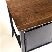 walnut standing desk, custom furniture
