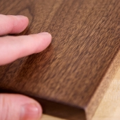 Walnut with grain filler