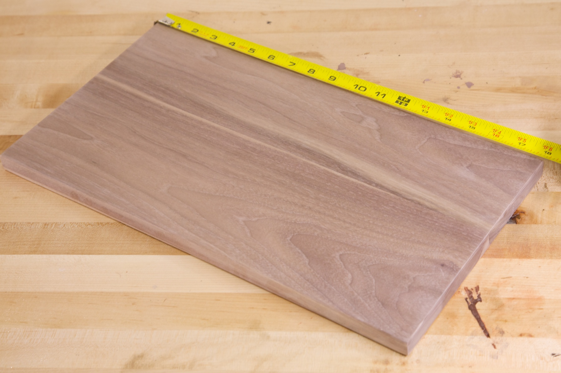 Before Walnut Panel Is Sanded To 220 Grit And Ready For The Next Step