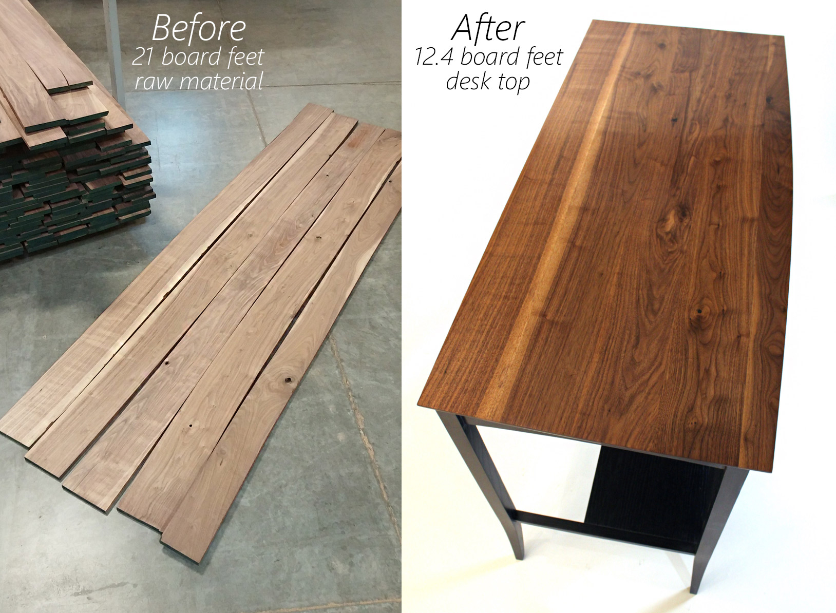 Walnut Desk Before After