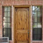 Knotty alder entry door