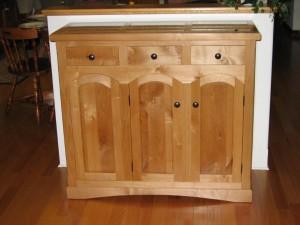 Wine Cabinet made of Superior Alder, by Joe Tripodi