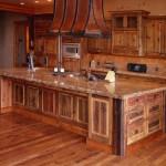 Custom Knotty Alder Cabinets with a glaze finish