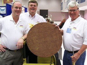 From left to right: Barry Swigert, Bob Jenkins, Bubinga Platter, and Nick Cook