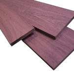 Purple heart boards are real, natural wood