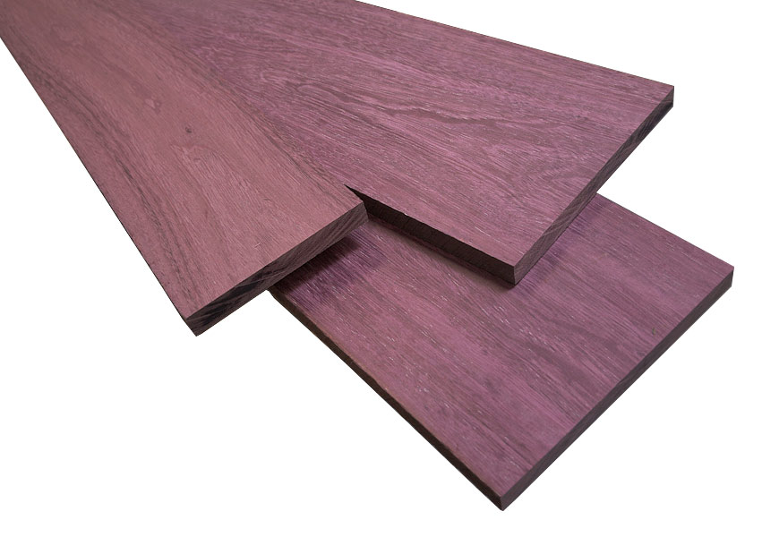Purple heart boards are real  natural wood. The Grape Popsicle of Woodworking  Purple Heart Wood  Peltogyne