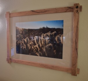 Mesquite frame finished and hung