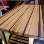 Red oak and purple heart table by Doug Johnson