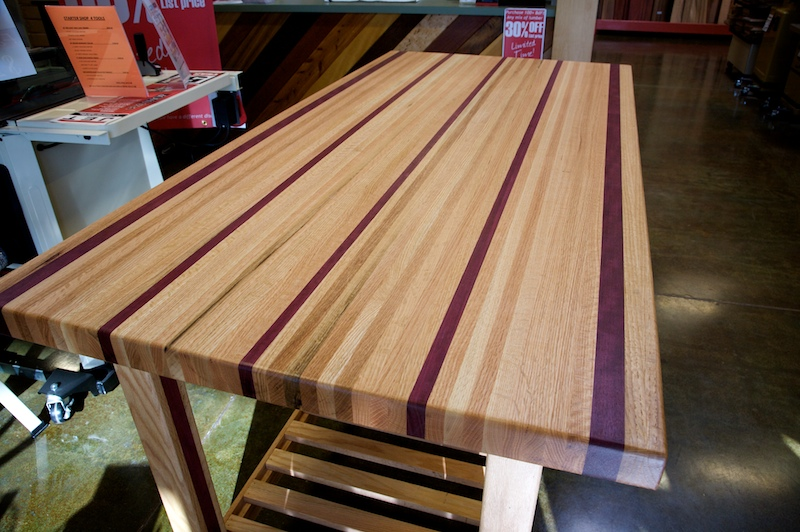 A 170 Pound Purple Heart Amp Red Oak Table By Doug Johnson