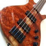 Figured bubinga bass guitar