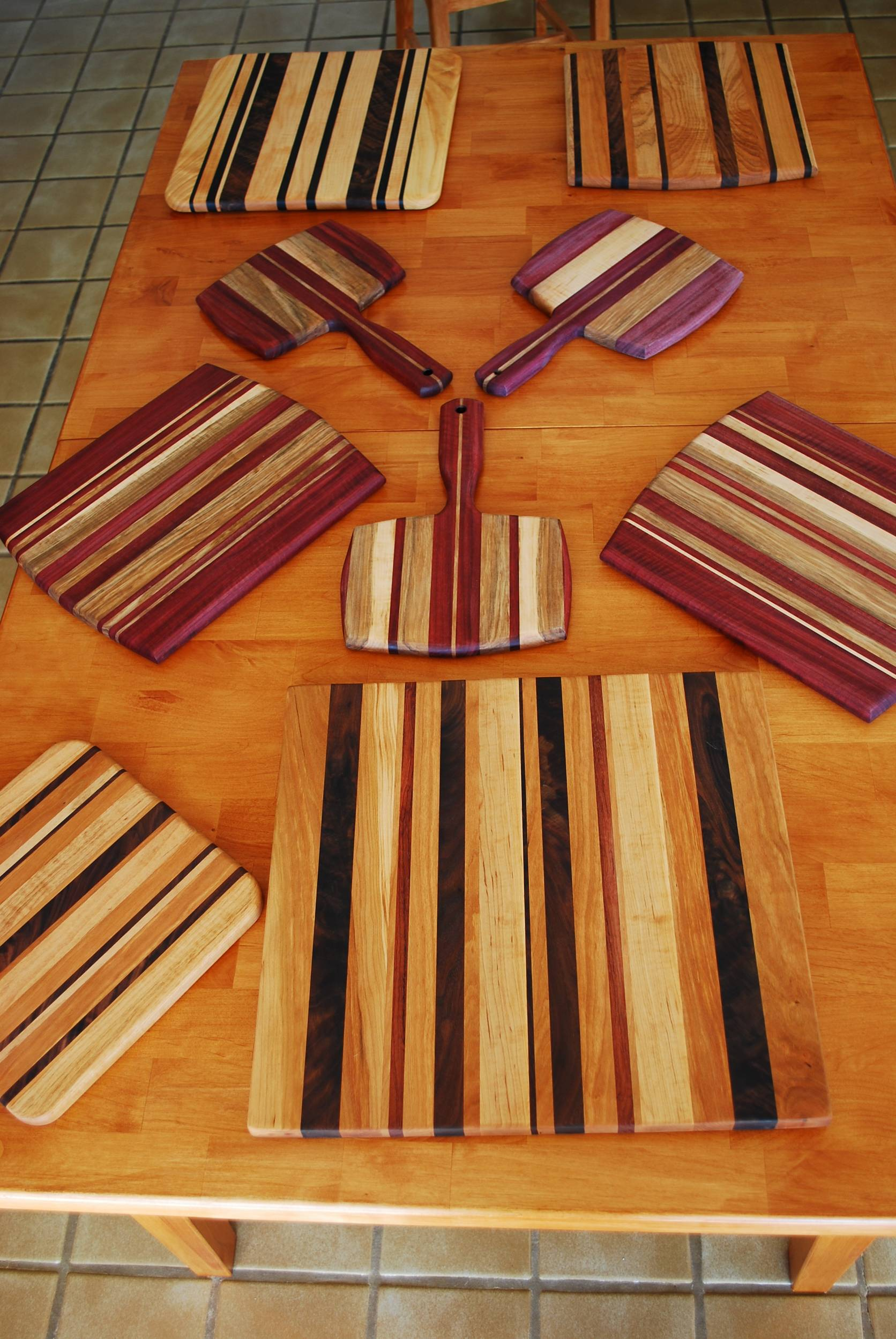 Hardwood Cutting Boards ~ Making cutting boards with exotic tropical woods