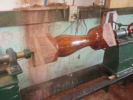 Wood Turning In The Backwoods At The End Of The World