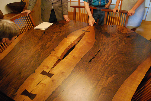 A George Nakashima Table With Signature Butterfly Joints