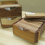 These nice looking stacking display boxes are perfect for archiving wood samples