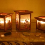 mahogany candle holders