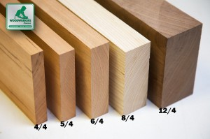 what does 4/4 mean in lumber