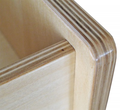 Baltic birch edges don't look too bad when shaped, sanded and finished.