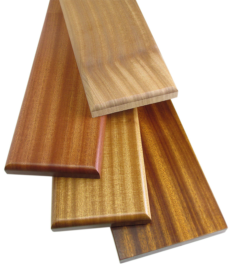 Sapele lumber with finish