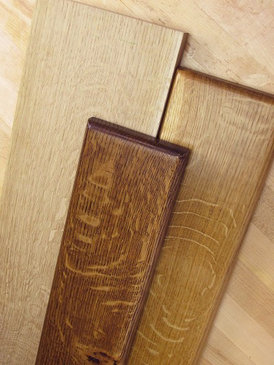 Quarter sawn white oak finish examples