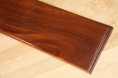 deep red mahogany finish on genuine mahogany dye stain