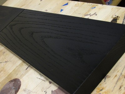 Ebonizing ash has a cool effect because the texture of the wood grain shows through. You get a 100% black wood without the look plastic - the wood grain shows that you indeed used real wood in your project.