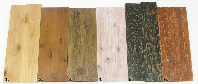 You can achieve numerous colors and rustic, charred, weathered, or distressed looks on your alder woodworking project. Here are 6 easy and dramatic methods.