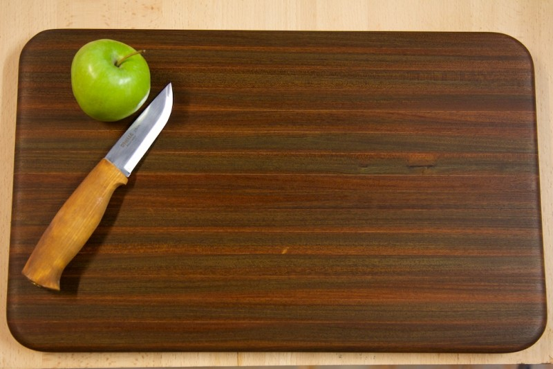 basic cutting board built out of ipe decking