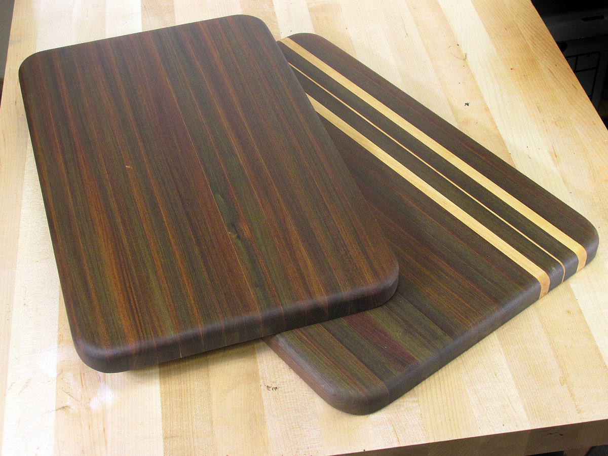 Here s one way to make a cutting board with ipe for Cutting board designs