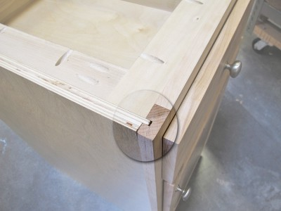 Using your table saw to make a rabbet and dado joint is a great way to join a face frame to a cabinet so that it comes out square and true.