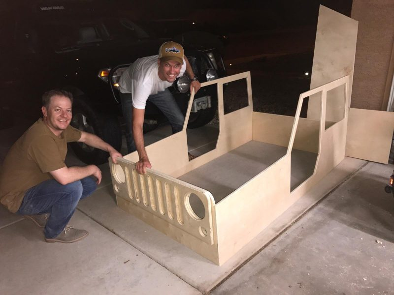 dry mock up jeep bed