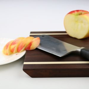 beveled walnut cutting board