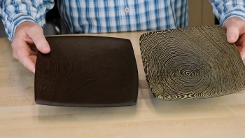 Bleached Wenge Compared to Oiled Wenge