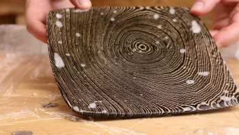 Bleached Wenge Plate