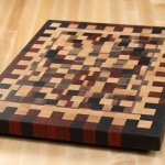 Checkered End-Grain Cutting Board by Daniel Billotte
