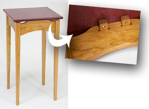 This End Table By Richard Slosky Demonstrates One Way To Attach A Table Top  While Allowing It To Be Able To Expand And Contract With Changes In  Moisture ...