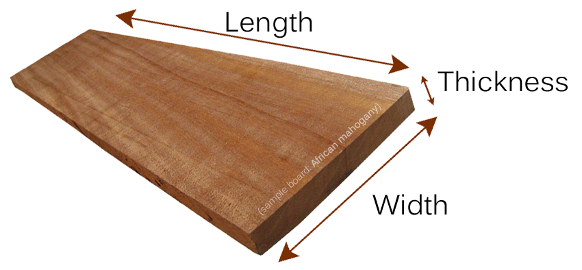 hardwood lumber sizes