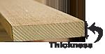 lumber thickness