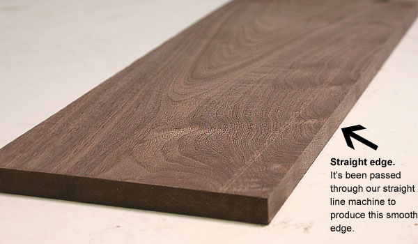 straight edged wood