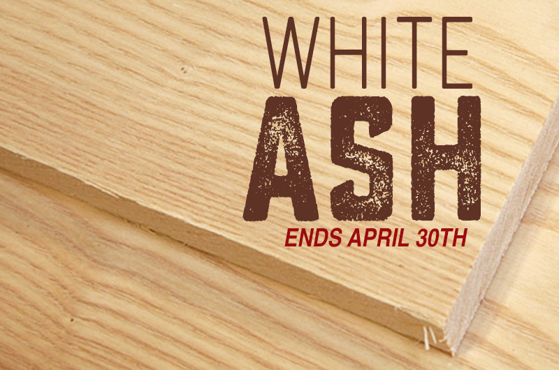 White Ash Lumber on sale for woodworkers
