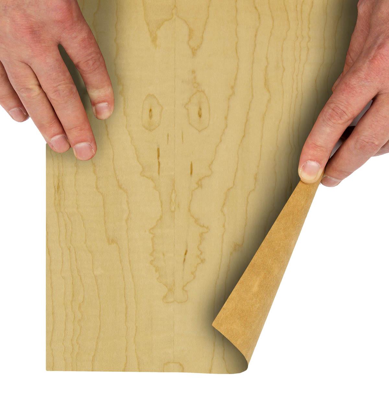15 x 98 Fiddleback Red Oak Wood Veneer 3 Sheets.