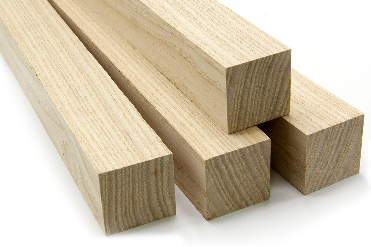3//4 x 4 White Ash Lumber Board 2 Pcs 3//4 x 4 x 18