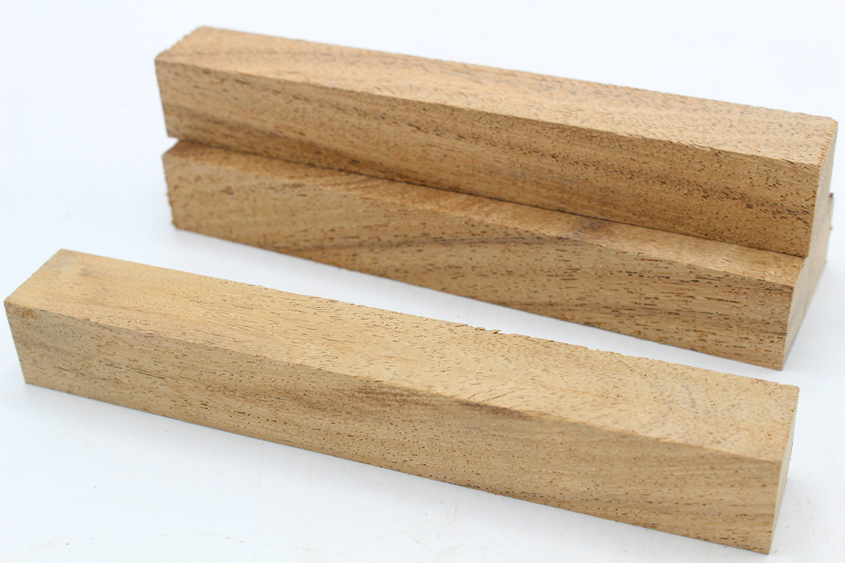 Five American Cherry wood blanks for pen turning and woodworking projects