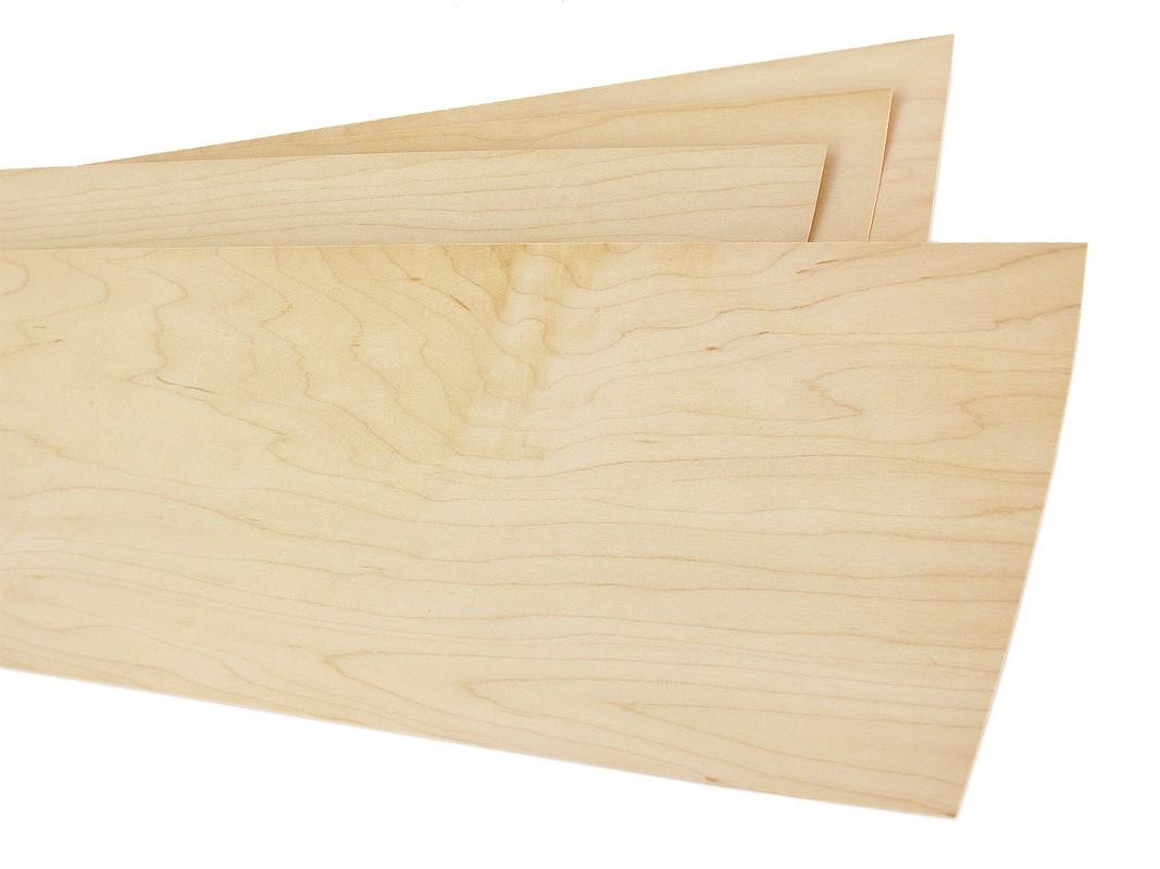 """Raw//Unbacked Red Oak Wood Veneer Pack of 3-9/"""" x 9/"""" Sheets"""