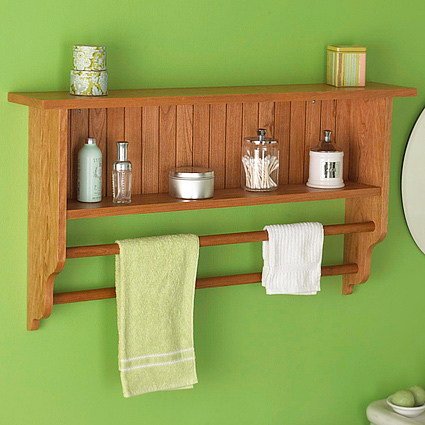 Wood Magazine S Project Plans Wall Shelf And Towel Rack Woodworking Plan Tap To Expand
