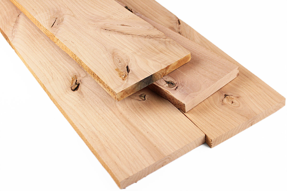 Alder Knotty 4/4 Project Pack: 20 Board Feet
