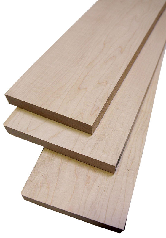 Maple Hard White 1/2'' Thin Craft Wood - 10 Square Feet Pack (2' to 4' Lengths)