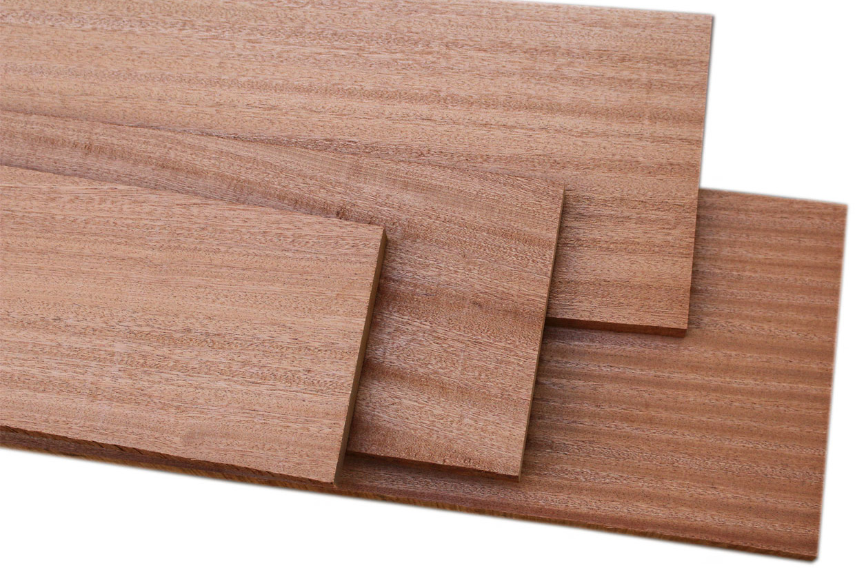 Sapele Ribbon Stripe 4/4 Craft Pack: 10 Board Feet
