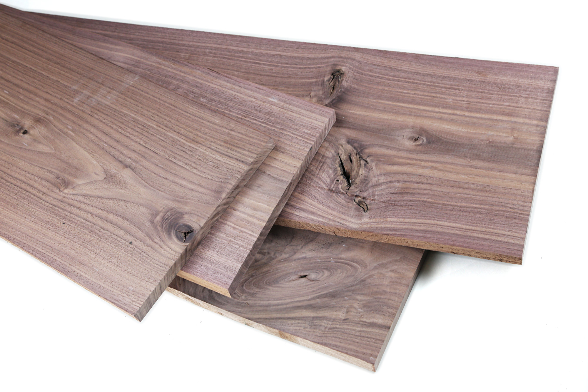 "Walnut 10"" Wide High Character 4/4 Project Pack: 20 Board Feet"